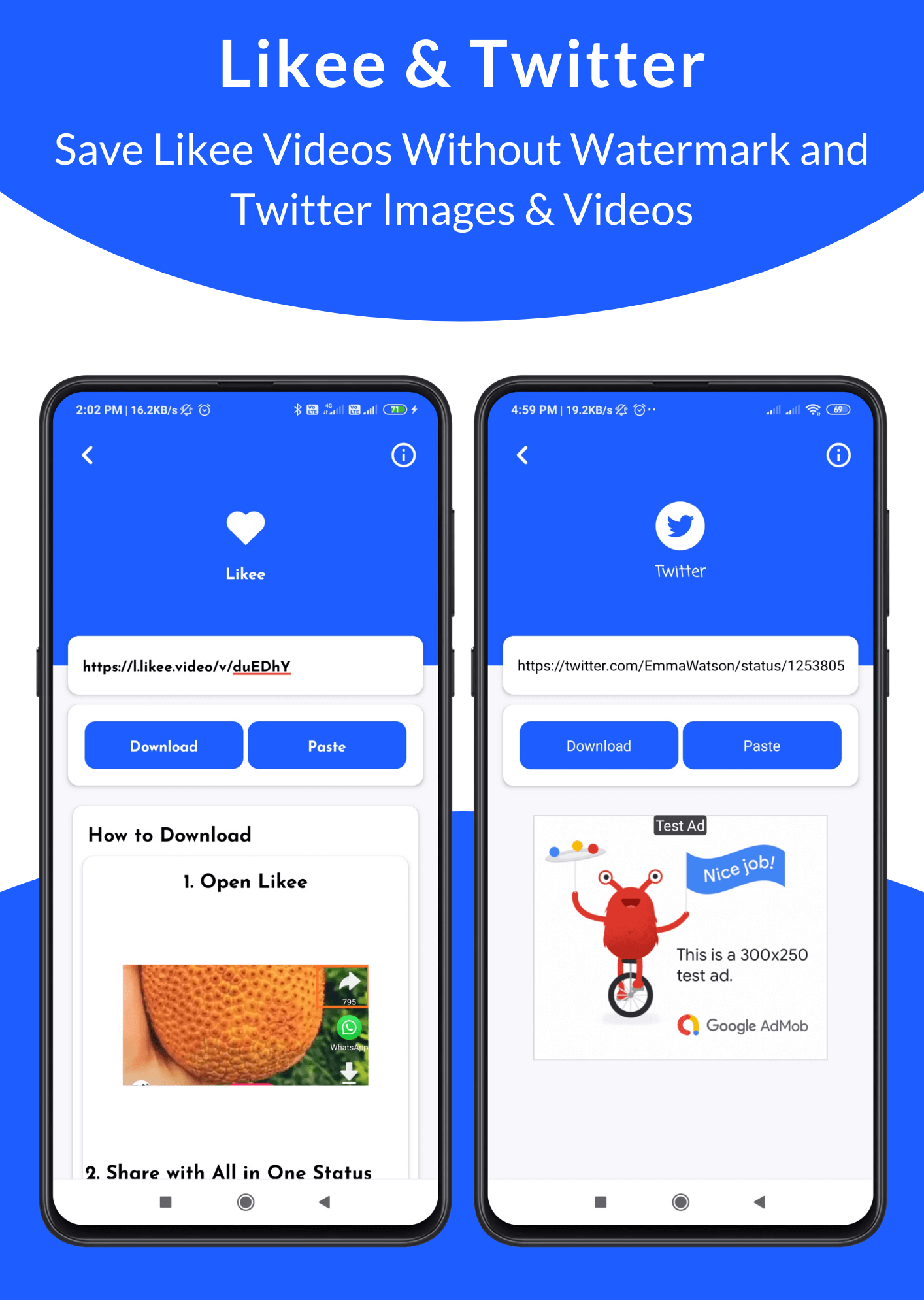 All in One Status Saver - SnackVideo, ShareChat, Roposo, Likee, Whatsapp, FB, Insta, TikTok, Twitter - 11