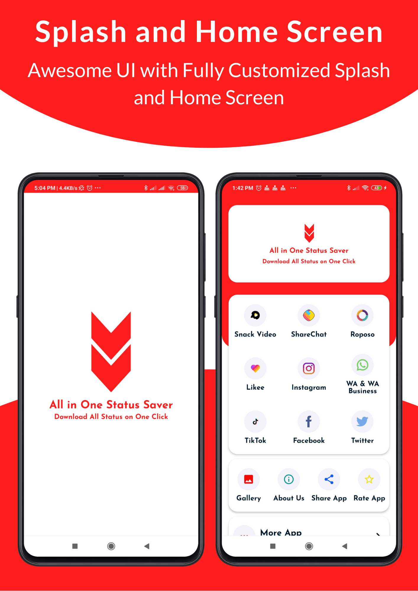All in One Status Saver - SnackVideo, ShareChat, Roposo, Likee, Whatsapp, FB, Insta, TikTok, Twitter - 4