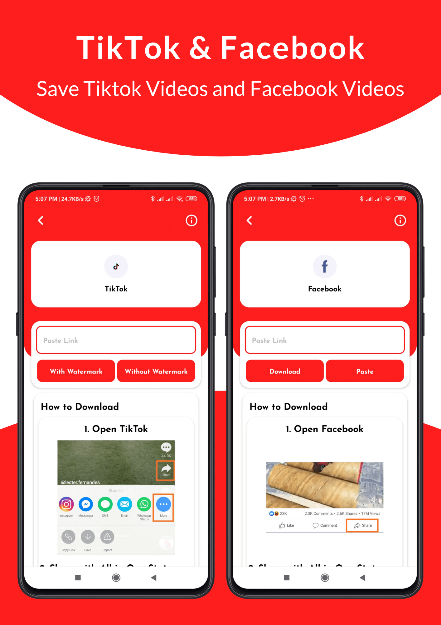 All in One Status Saver - SnackVideo, ShareChat, Roposo, Likee, Whatsapp, FB, Insta, TikTok, Twitter - 7