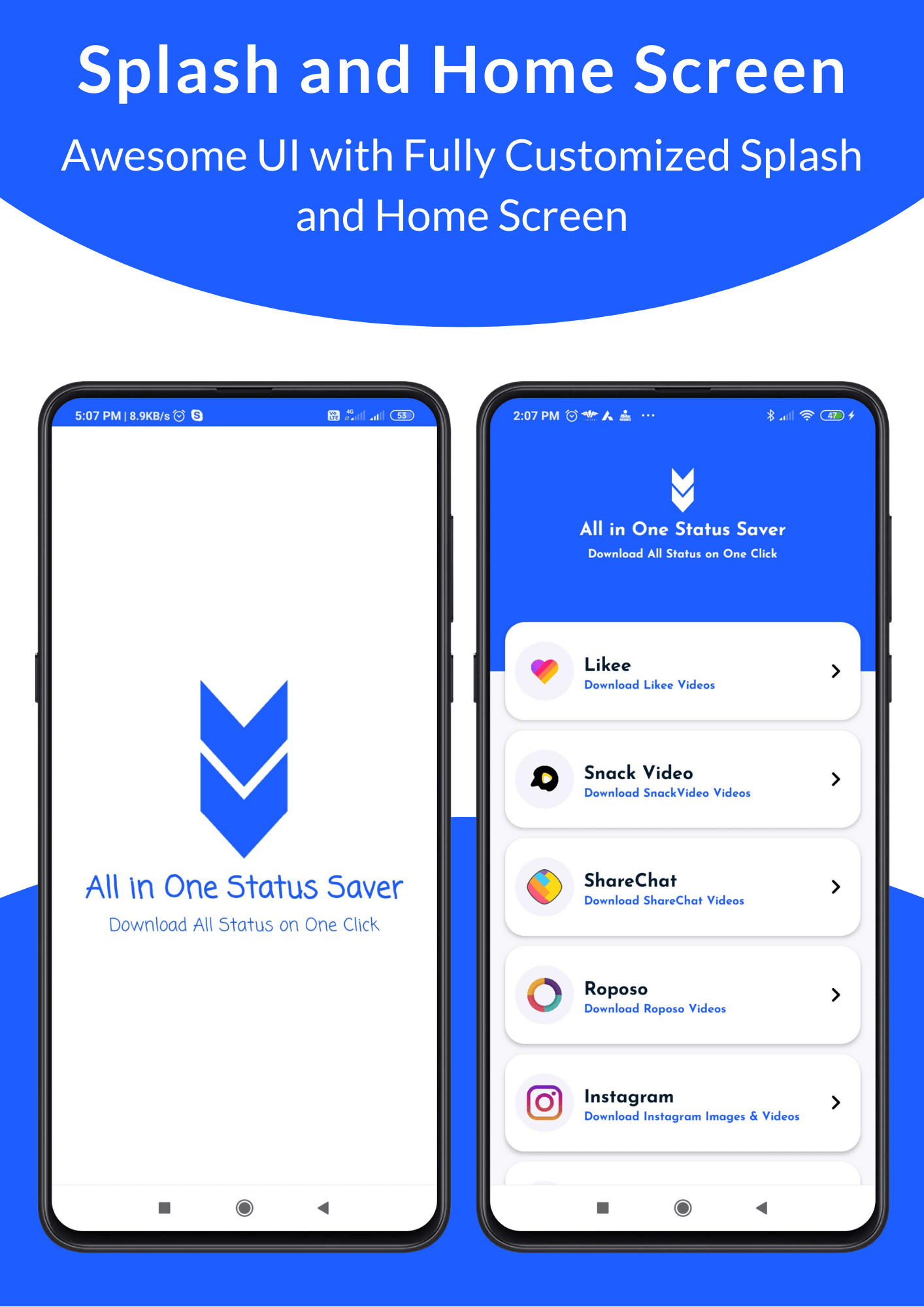 All in One Status Saver - SnackVideo, ShareChat, Roposo, Likee, Whatsapp, FB, Insta, TikTok, Twitter - 10
